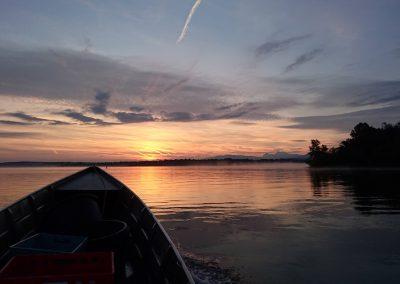 Farbenspiel kurz vor Sonnenaufgang