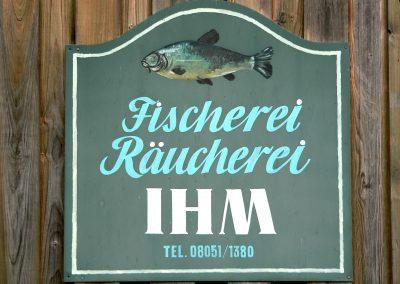 Schild Fischräucherei IHM