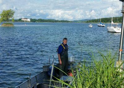 """Sepp Wörndl in """"seinem"""" Boot"""