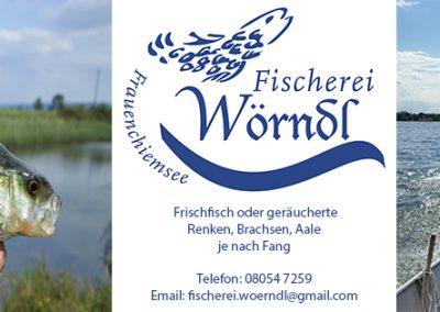 Chiemseefischerei Wörndl Werbebanner